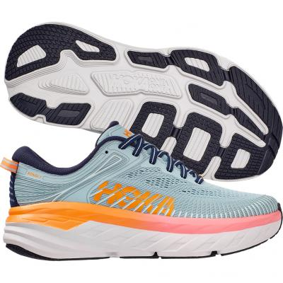 Hoka One One - Bondi 7, Damen - grau/orange/weiß