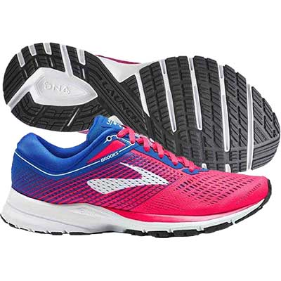 Brooks - Launch 5, Damen - pink/blau