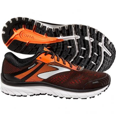 Brooks - Adrenaline GTS 18, Herren - schwarz/orange