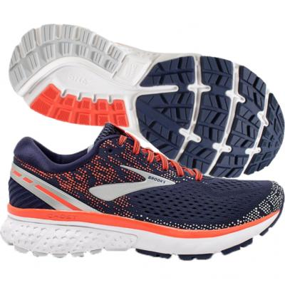 Brooks - Ghost 11, Damen - navy/coral