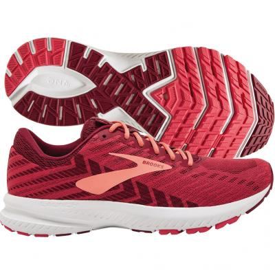Brooks - Launch 6, Damen - rot/weiß