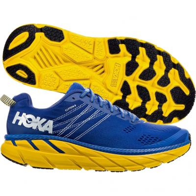 Hoka One One - Clifton 6 - blau/gelb