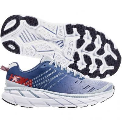 Hoka One One - Clifton 6, Damen - blau/weiß