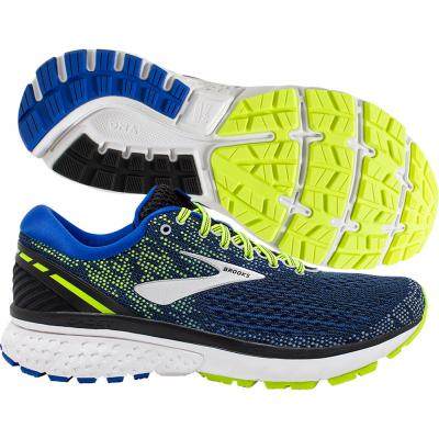 Brooks - Ghost 11, Herren - blau/gelb