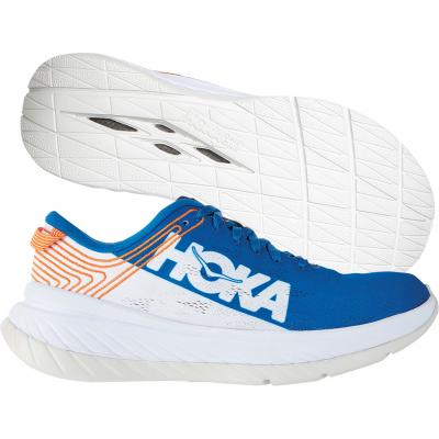 Hoka One One - Carbon X, Herren - blau/weiß/orange