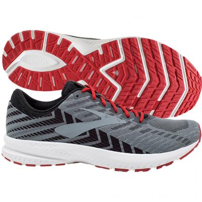 Brooks - Launch 6, Herren - grau/weiss