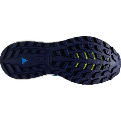 Sohle vom Brooks Cascadia 14 GTX in navy/rosa/weiss