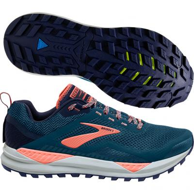Brooks - Cascadia 14, Damen - navy/rosa/weiß