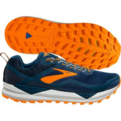 Brooks - Cascadia 14, Herren - navy/orange/weiß