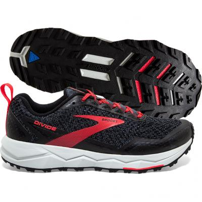 Brooks - Divide, Damen - schwarz/grau/rot