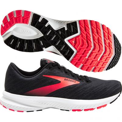 Brooks - Launch 7, Damen - schwarz/grau/rosa