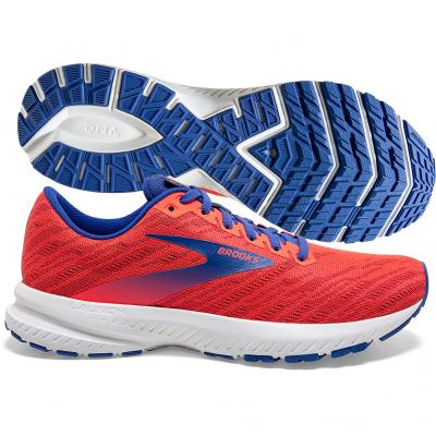 Brooks - Launch 7, Damen - coral/blau/weiß