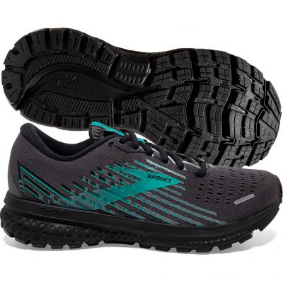 Brooks - Ghost 13 GTX, Damen - schwarz/türkis
