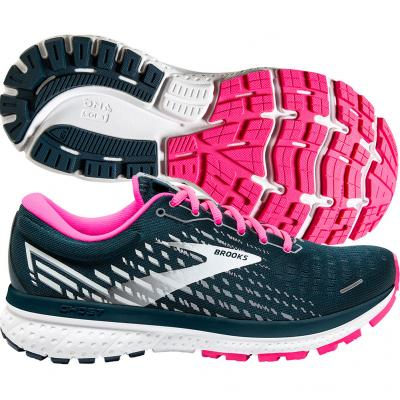 Brooks - Ghost 13, Damen - navy/pink/weiß