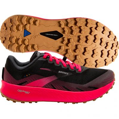 Brooks - Catamount, Damen - schwarz/pink/orange