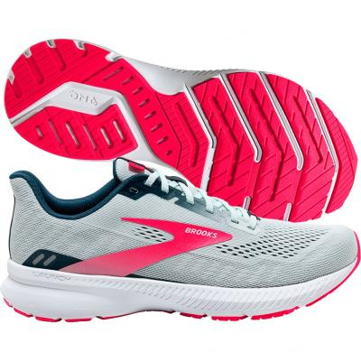 Brooks - Launch 8, Damen - weiß/navy/pink