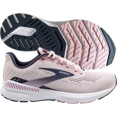 Brooks - Launch GTS 8, Damen - weiß/navy/pink