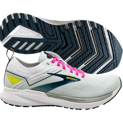 Brooks - Ricochet 3, Damen - grau/weiß/navy