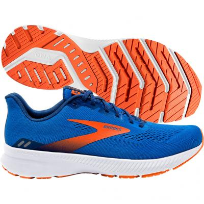 Brooks - Launch 8, Herren - blau/orange/weiß