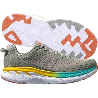 Hoka One One - Clifton 5 - grau/gelb