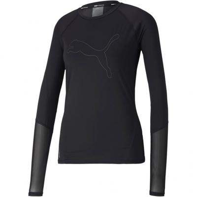 Ansicht von vorn vom Puma Runner ID Long Sleeve Damen in black