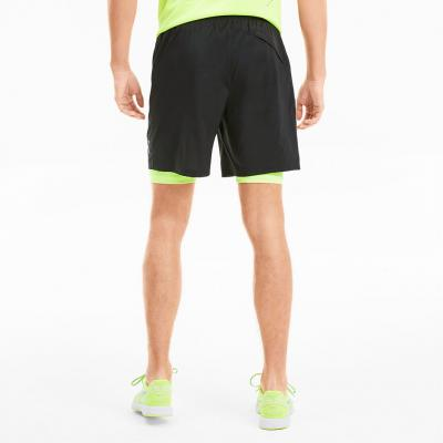 Puma Last Lap 2in1 7 Short Herren in black/yellow-alert