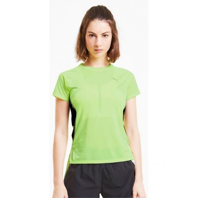 Detail vom Puma Run Laser Cat Short Sleeve Tee Damen in fizzy yellow