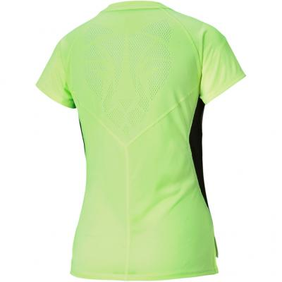 Ansicht von hinten vom Puma Run Laser Cat Short Sleeve Tee Damen in fizzy yellow