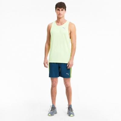 Detail von der Puma Run Favorite woven 7 Session Short Herren in digi-blue-fizzy yellow