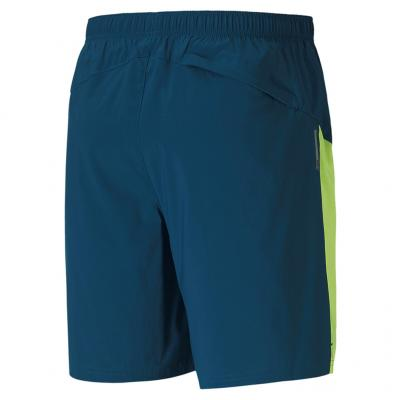 Ansicht von hinten von der Puma Run Favorite woven 7 Session Short Herren in digi-blue-fizzy yellow