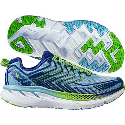 Hoka One One - Clifton 4, Damen - blau/grün