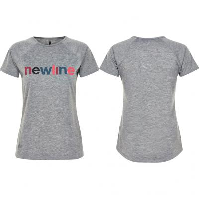 Newline - Black Heather Logo Tee, Damen