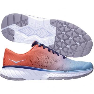 Hoka One One - Cavu 2, Herren - orange/blau/weiss
