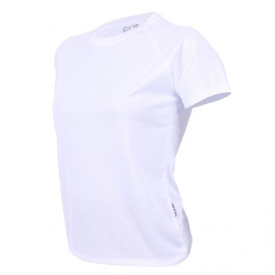 Seitenansicht vom Konable Basic Tech Tee Damen in white