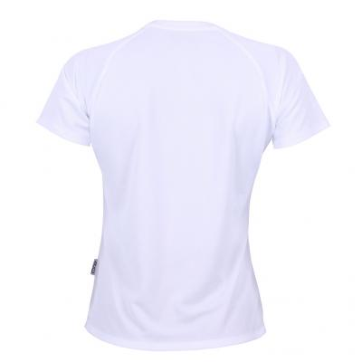 Rückenansicht vom Konable Basic Tech Tee Damen in white