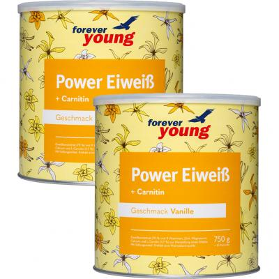 Forever Young - Power Eiweiß 750g (2er Set)
