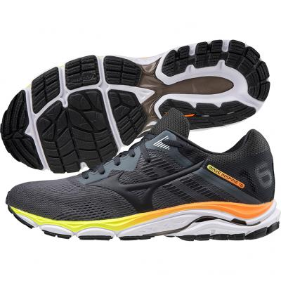 Mizuno - Wave Inspire 16, Herren - grau/orange/weiß