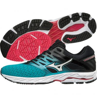 Mizuno - Wave Shadow 2, Damen - blau/schwarz/pink