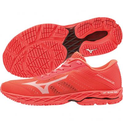 Mizuno - Wave Shadow 3, Damen - korall/weiß