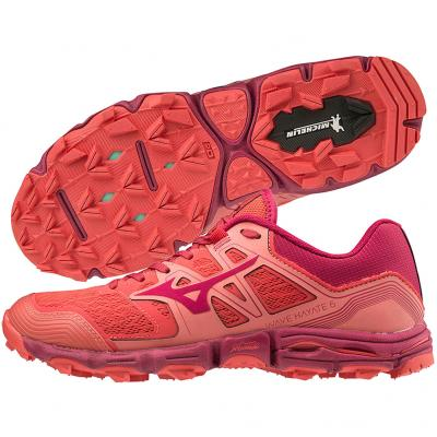 Mizuno - Wave Hayate 6, Damen - rot/orange