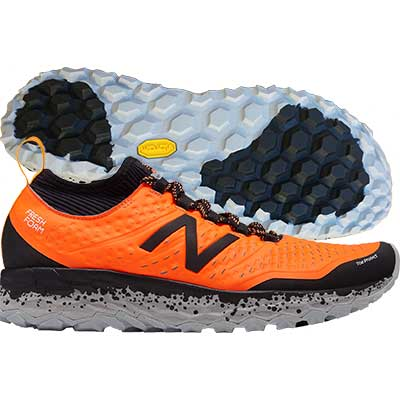 New Balance - Fresh Foam Hierro V3, Herren - orange/schwarz