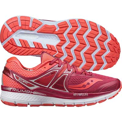 Saucony - Triumph ISO 3, Damen - rot/pink