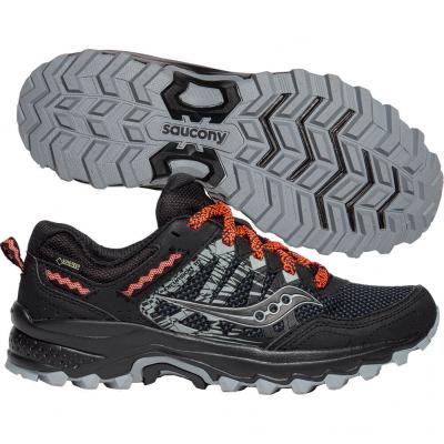 Saucony - Excursion TR12 GTX, Damen - schwarz