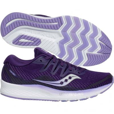 Saucony - Ride ISO 2, Damen - lila/weiss