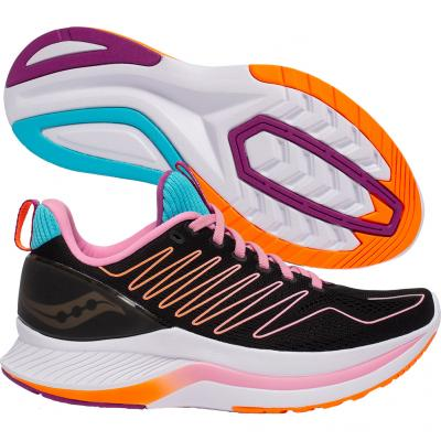 Saucony - Endorphin Shift, Damen - schwarz/rosa/orange