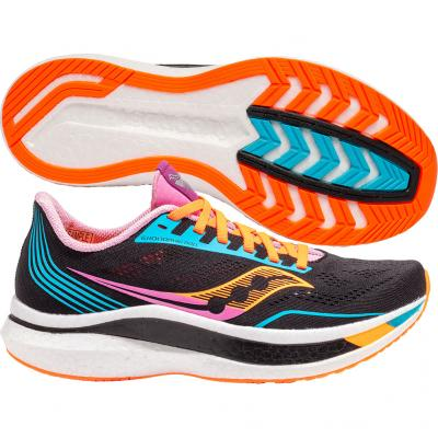 Saucony - Endorphin Pro, Damen - schwarz/rosa/orange