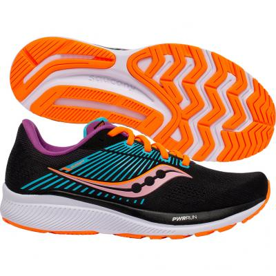 Saucony - Guide 14, Damen - schwarz/blau/orange
