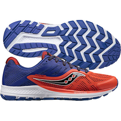 Saucony - Ride 10, Herren - orange/blau