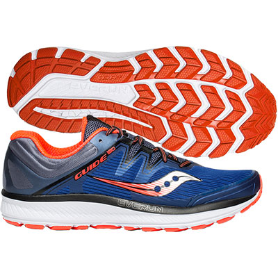 Saucony - Guide ISO, Herren - blau/grau/orange