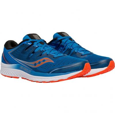 Paar vom Saucony Guide Iso 2 Herren in blau/orange